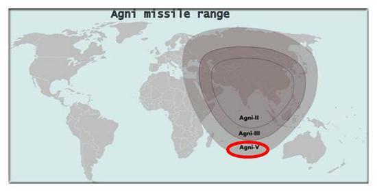 理论来说 烈火-5具备打击到中国北部的能力 不过仅仅是理论