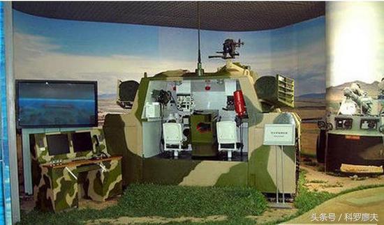 原沈阳军区某部的坦克和自行火炮全任务模拟器。