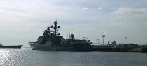 视频截图:俄军舰停靠菲律宾