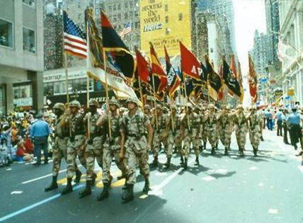 海湾战争后,纽约的胜利游行