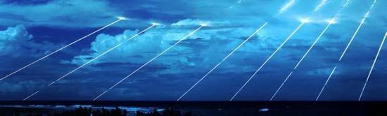 多弹头导弹打击不同目标的轨迹