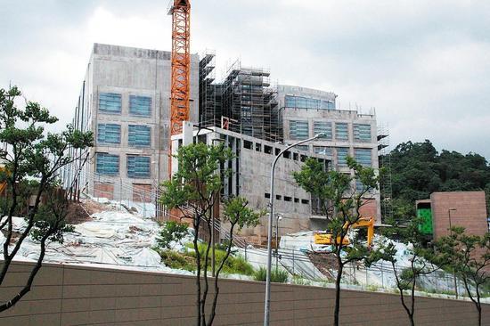 施工中的美国在台协会台北办事处新址