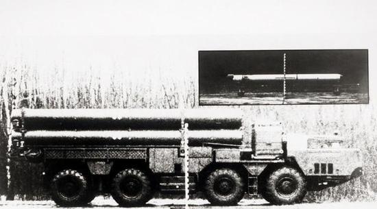 △昙花一现的苏联RK-55导弹及其发射车
