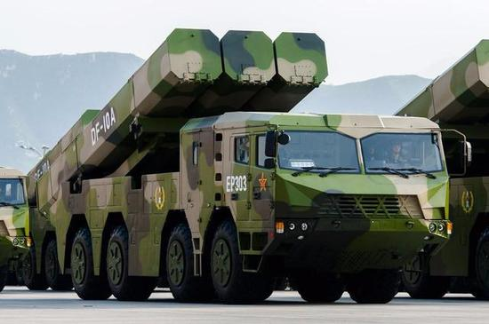△由于中国不受《中导条约》限制,现役的长剑/东风-10也成了目前世界上唯一一款拿得上台面的陆基远程战略巡航导弹