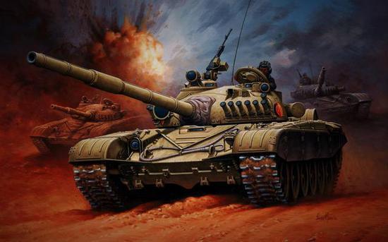 东德人民军的T72和驻德苏军T72并肩战斗