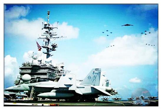 现在的航母作用不是打击力,而是威慑力