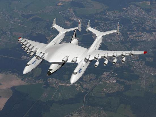运输机把航天飞机运到高空发射