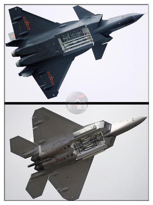 """歼-20和F-22都展示过内置弹舱,T-50目前还没有如此""""大方""""过"""