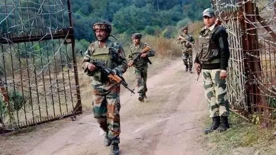 资料图:印度边防部队士
