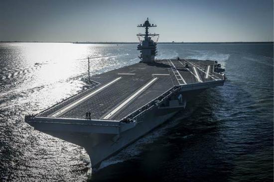 最新核动力航母福特号今日服役 耗资百亿美元图片