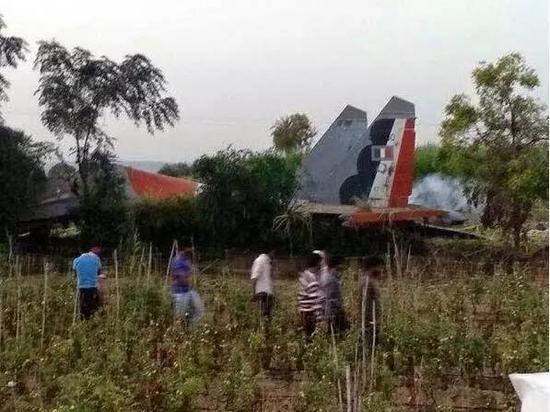 蘇-30MKI的墜機現場