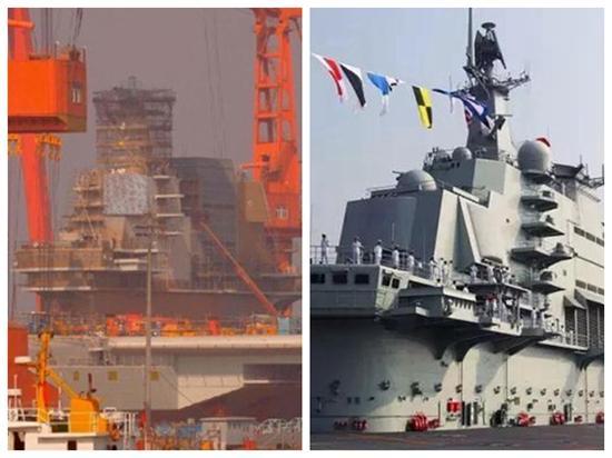 两舰舰岛具有明显的区别