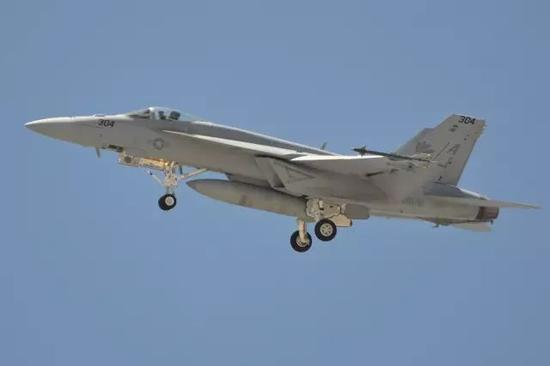 △参与击落苏-22的F/A-18E战斗机