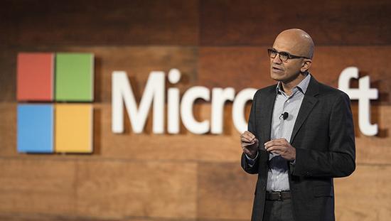 微软公司CEO萨蒂亚·纳德拉(Satya Nadella)