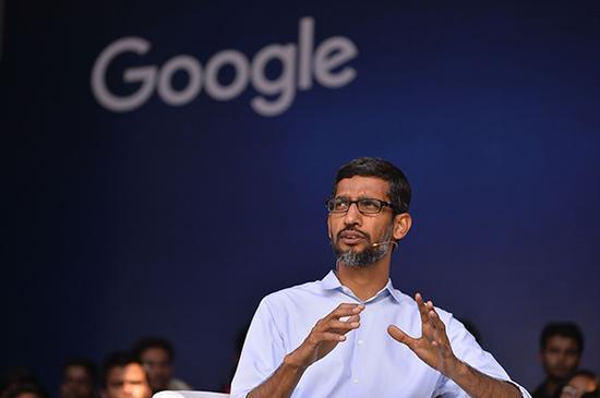 谷歌公司CEO桑达尔·皮查伊(Sundar Pichai)