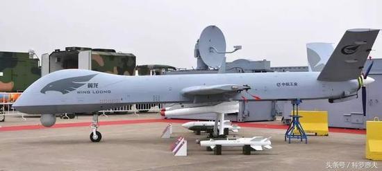 图片:中国的出口型翼龙无人机。