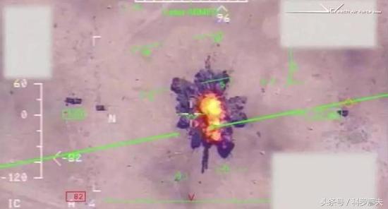 图片:察打一体无人机的打击画面。