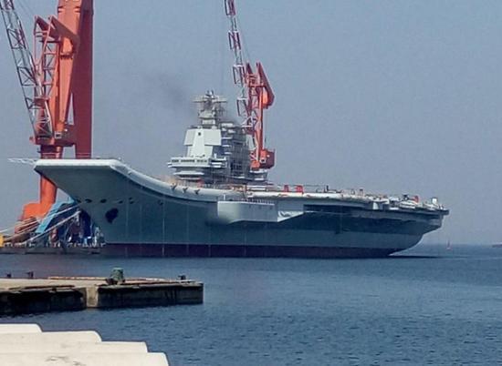 002航母消磁后要转入海试阶段