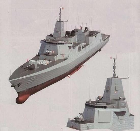 055万吨驱逐舰及其桅杆结构