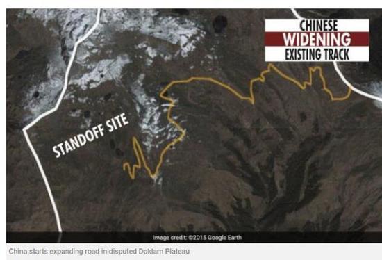 """印度""""新德里电视台""""网站报道修路地点在对峙地点约10公里外"""