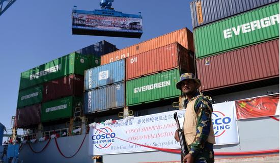中国在巴基斯坦建设的港口 图自港媒