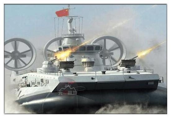 中国野马气垫艇批量现身 预示075两栖舰或快要亮相