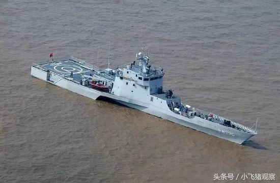 资料图:中国海军三体舰