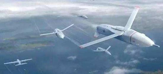 美军构想的无人机群作战