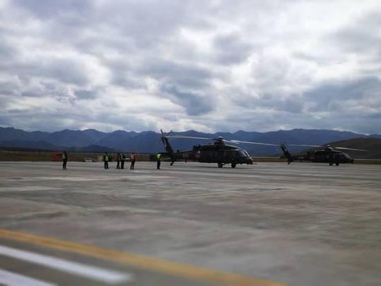 图片:现身高原的直-20直升机,预祝直-20直升机早日量产。