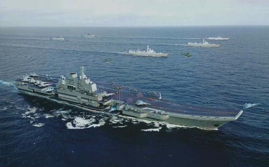 走向远洋的中国海军少不了055舰