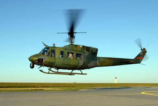 ▲迈诺特基地91导弹联队的UH-1N直升机