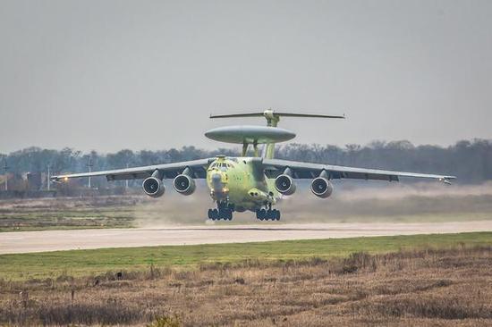俄第三天连续曝光大国重器 新型空中预警机实现首