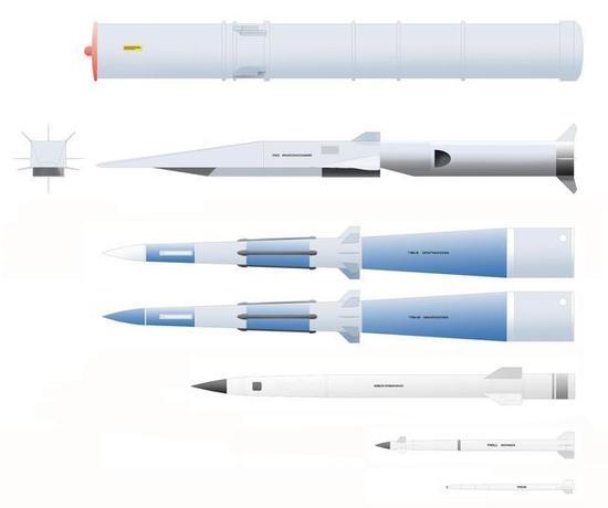 可以配用的几款导弹