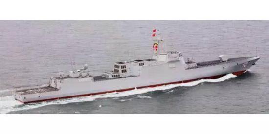 055首舰还在进行各种技术试验