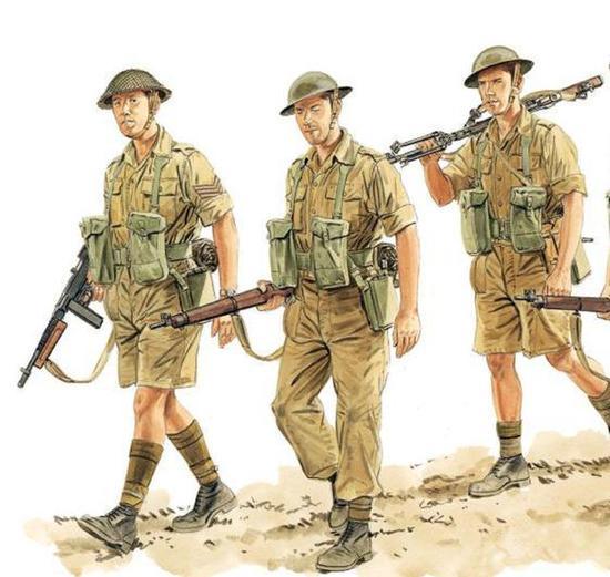 一开始英军装备过美制冲锋枪,但太过昂贵