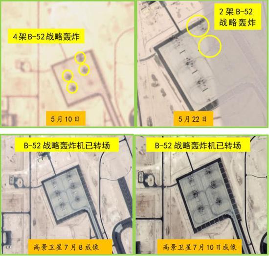 烏代德空軍基地B-52戰略轟戰機停駐情況