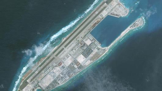 1月1日的永暑礁卫星图片 图片来自CNBC