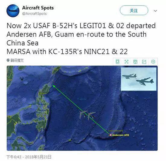 外媒传说B-52H飞的是攻击航线