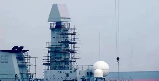 中国新型舰载雷达亮相 新一代护卫舰或呼之欲出(图)