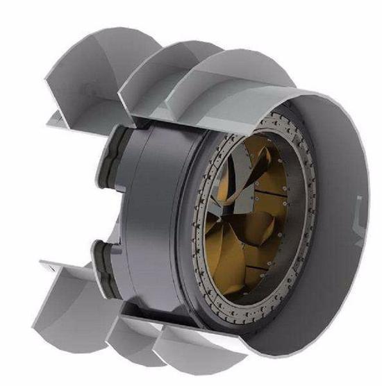 图为壹种无轴泵喷铰进器设计构造图。