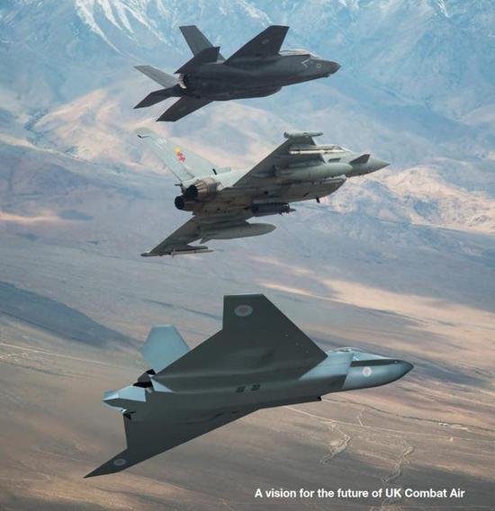 英国高调展示六代机全尺寸模型 称2035年可交付空军