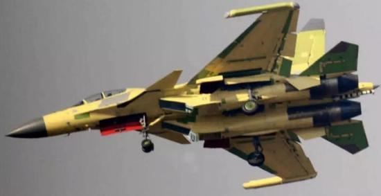 ▲网络上流传的歼-15D电子战机原型机图片