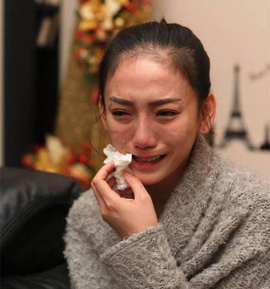 """刘乔安声泪俱下。(图片来源;台湾""""中时电子报"""")"""