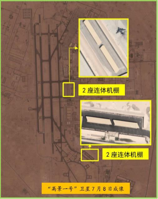 烏代德空軍基地2處可容納F-22戰鬥機的連體機棚