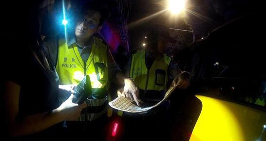 刘乔安持有K他命被警方逮捕。(图片来源:台湾《联合报》)