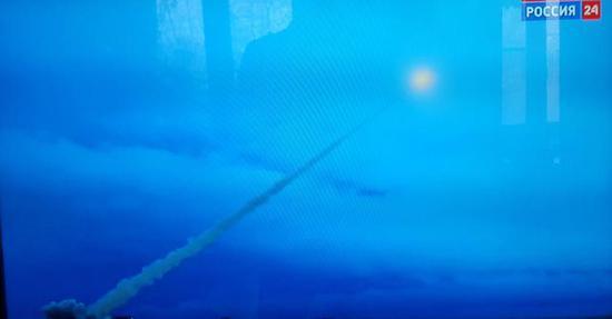 """▲""""海燕""""核动力巡航导弹试射画面"""