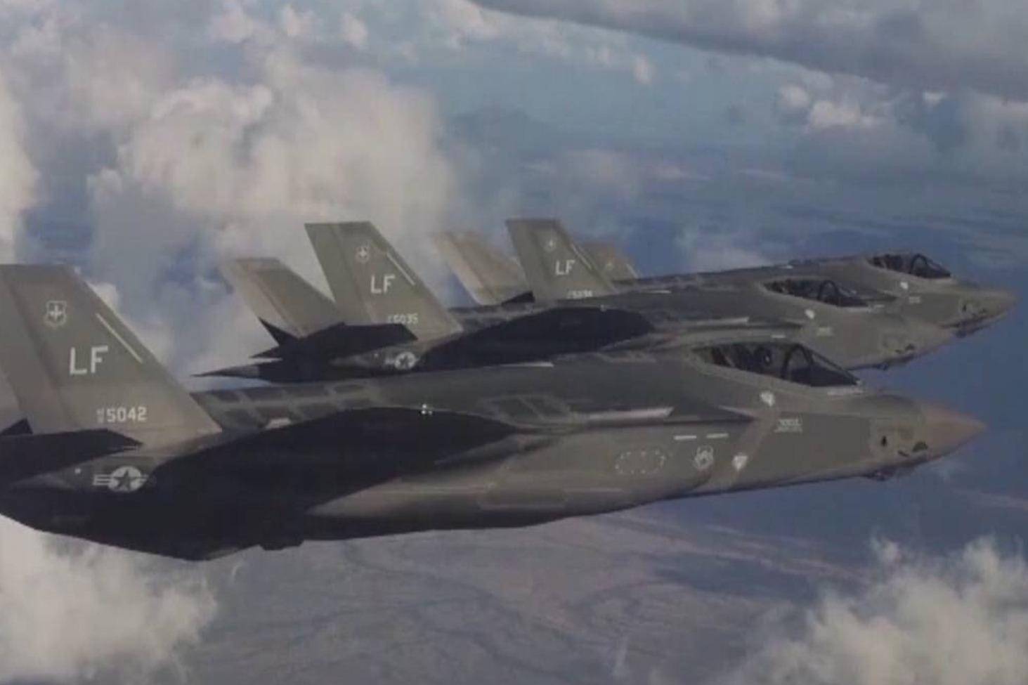 美日在东海上空实施联合防空演习 美军出动F-35战机