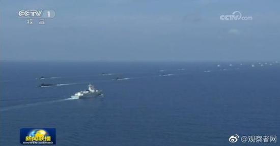 12日,解放军南海军演 视频截图