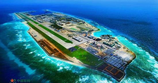 永暑岛机场跑道长3160米,宽60米