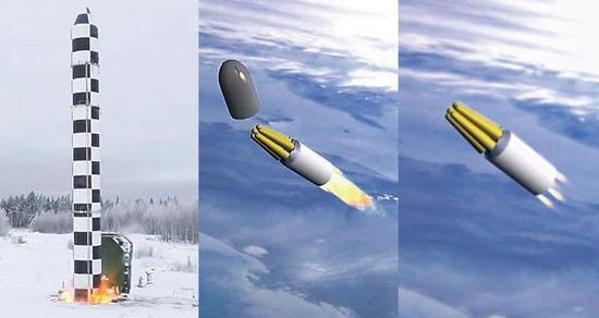 """俄罗斯新型RS-28""""萨尔马特""""洲际弹道导弹"""